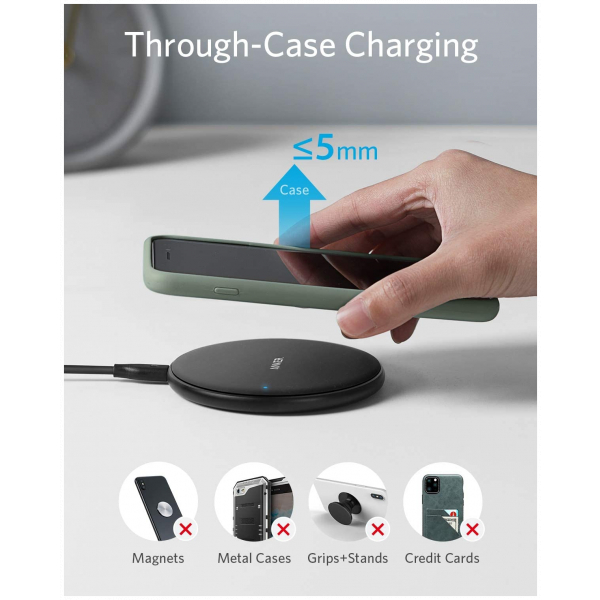 Wireless Charger, PowerWave Pad 10W Max for iPhone