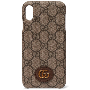 Gucci Ophidia Leather Monogram  iPhone X Case