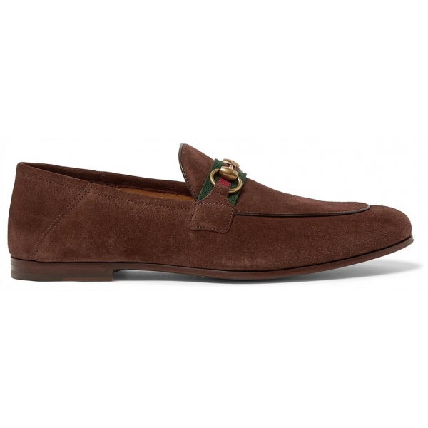Gucci Brixton Suede Loafers