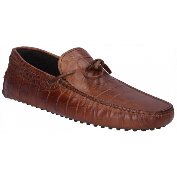 Tod's Crocodile Effect Gommino Loafers