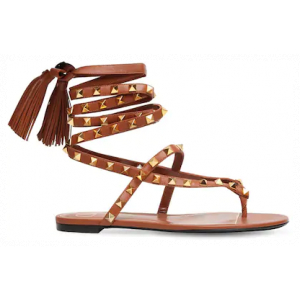 Valentino 10mm Rockstud Flair Leather Thong Sandals