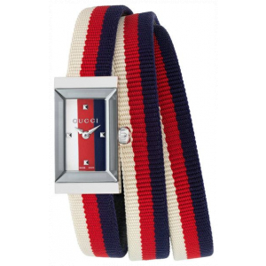 Gucci G-Frame Collection Red & Blue Strap Watches