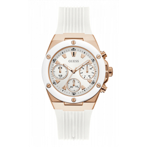Guess Rose Gold Tone Silicone Watch