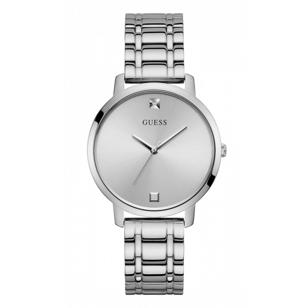 Guess Silver Tone Stainless Steel