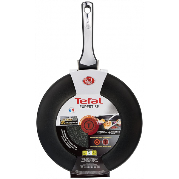 Tefal Stainless Steel Non Stick Wok, 28 cm